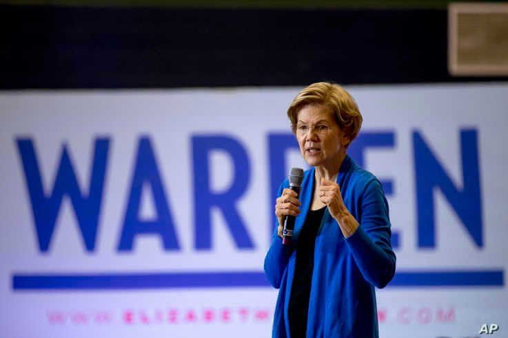 Democratic presidential candidate Elizabeth Warren speaks at a campaign stop at Nashua Community College, in Nashua, New Hampshire, Feb. 5, 2020.