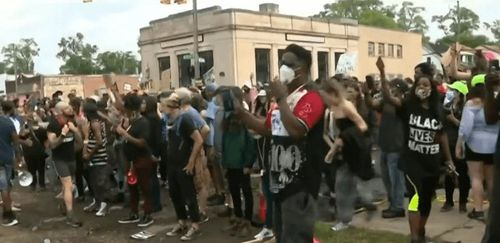 Protest in Detroit over officer involved shooting escalates as crowds grow
