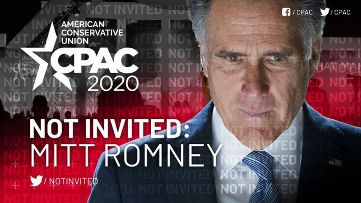 Romney not invited to CPAC after Senate witness vote