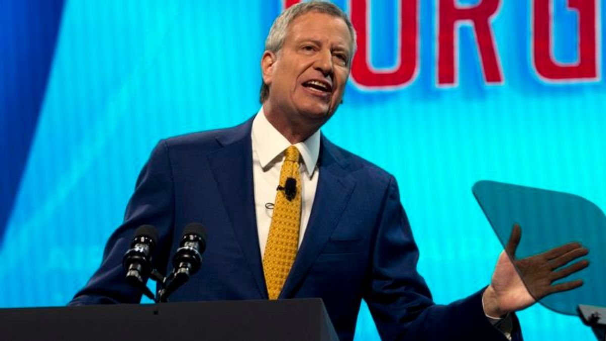 De Blasio Gets 2020 Presidential Backing from Local Union