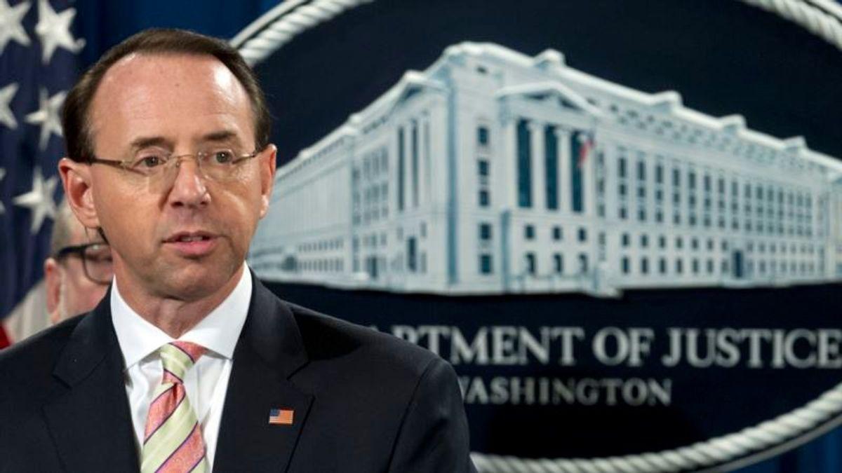 Rosenstein: Russia Probe Justified, Closing It Wasn't an Option