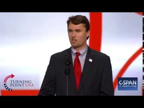 Charlie Kirk at the Republican National Convention 2016 in Cleveland