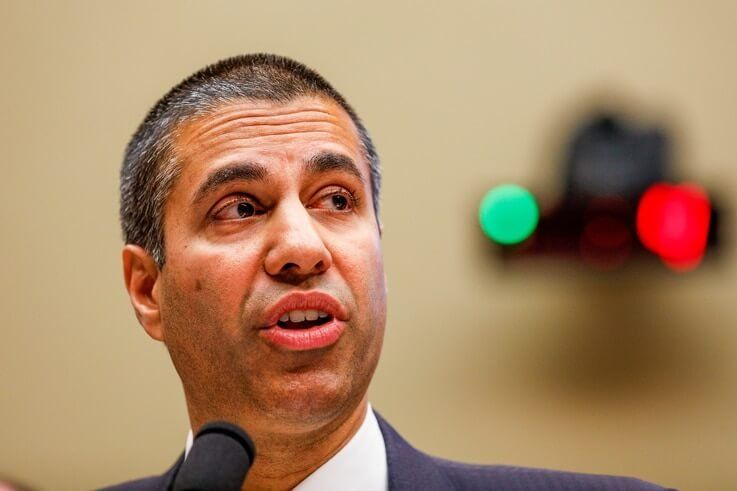 FCC Chairman Ajit Pai testifies before a House Energy and Commerce Communications and Technology Subcommittee hearing on…
