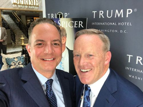 Sean Spicer and Reince Priebus rejoin the Trump administration