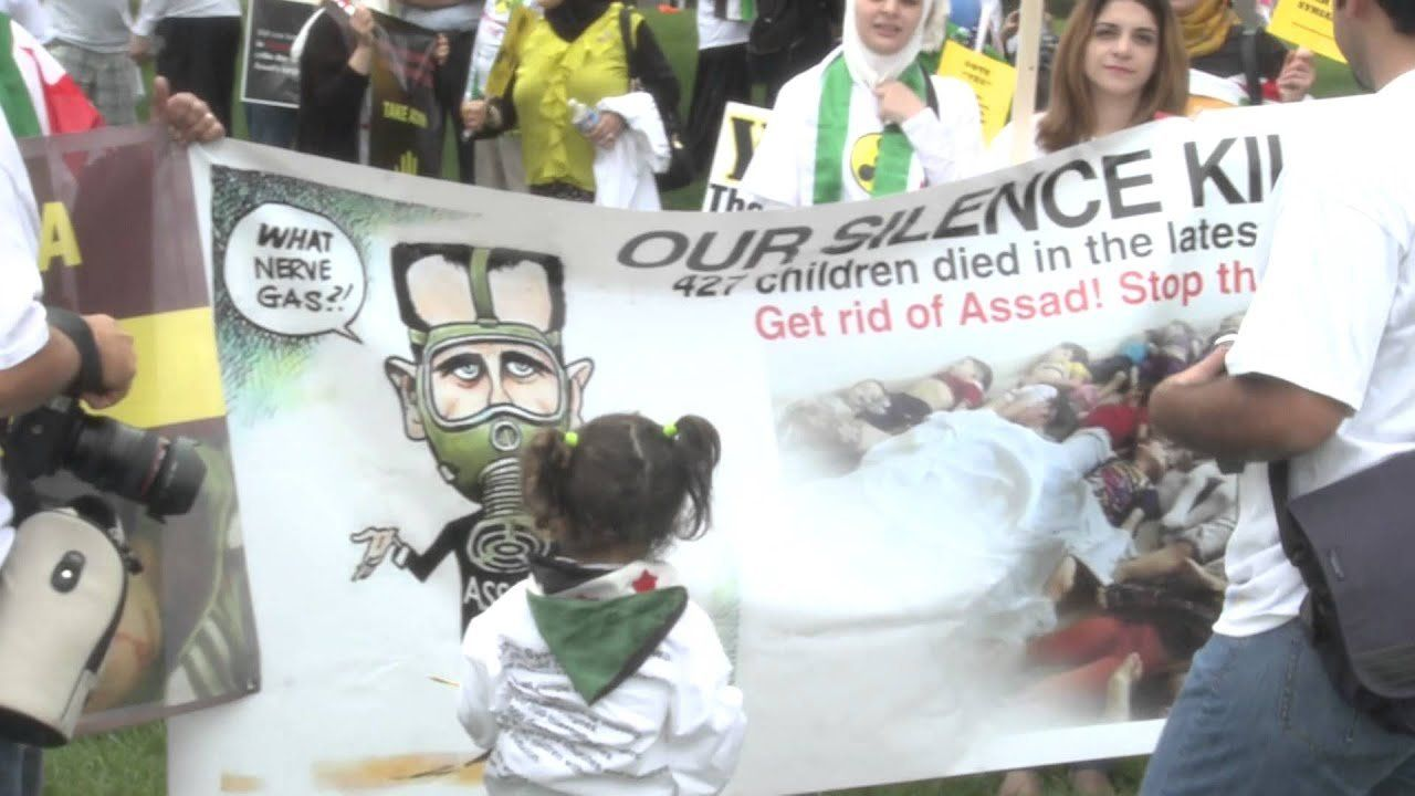 Rally cry: 'Chemical weapons aren't OK'
