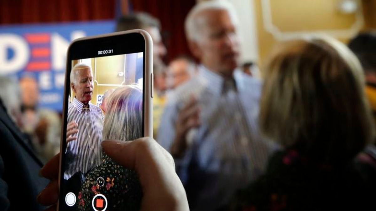 Front-Runner Biden Campaigning for President on His Terms