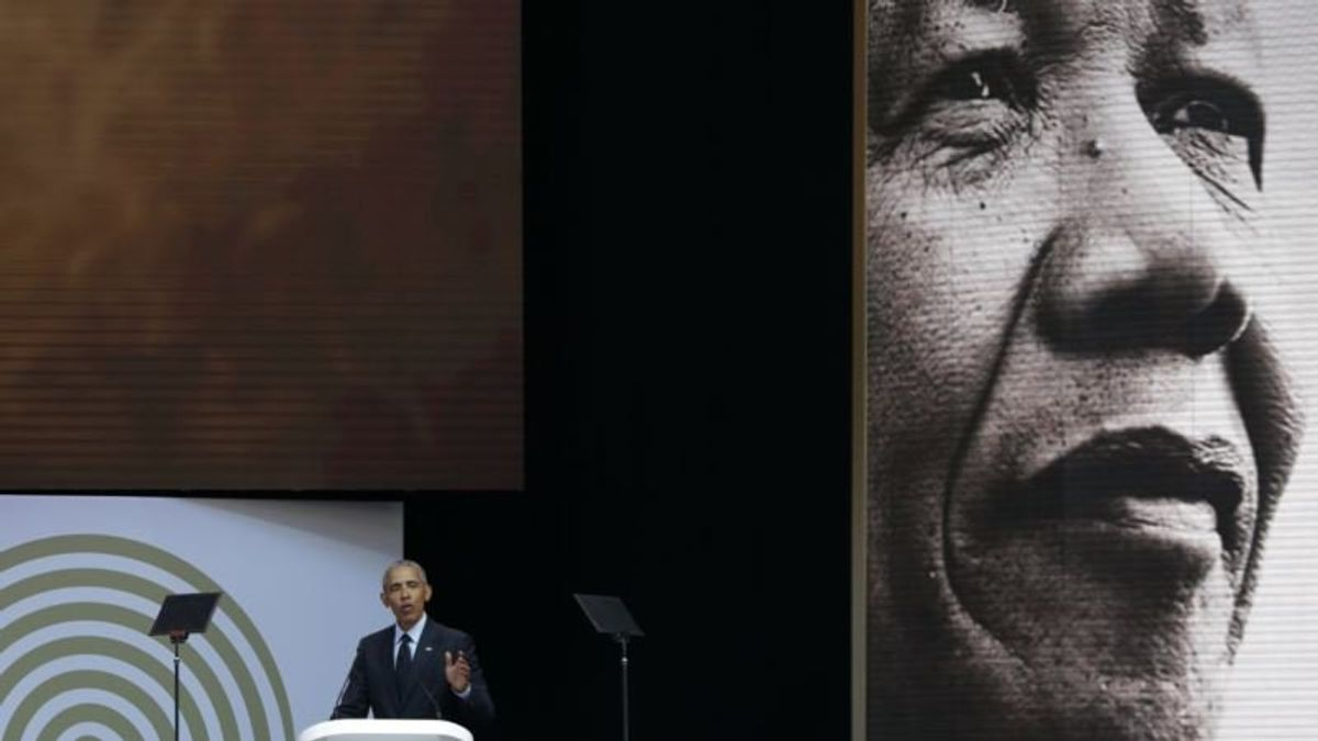 Obama Urges World to Follow Mandela's Example