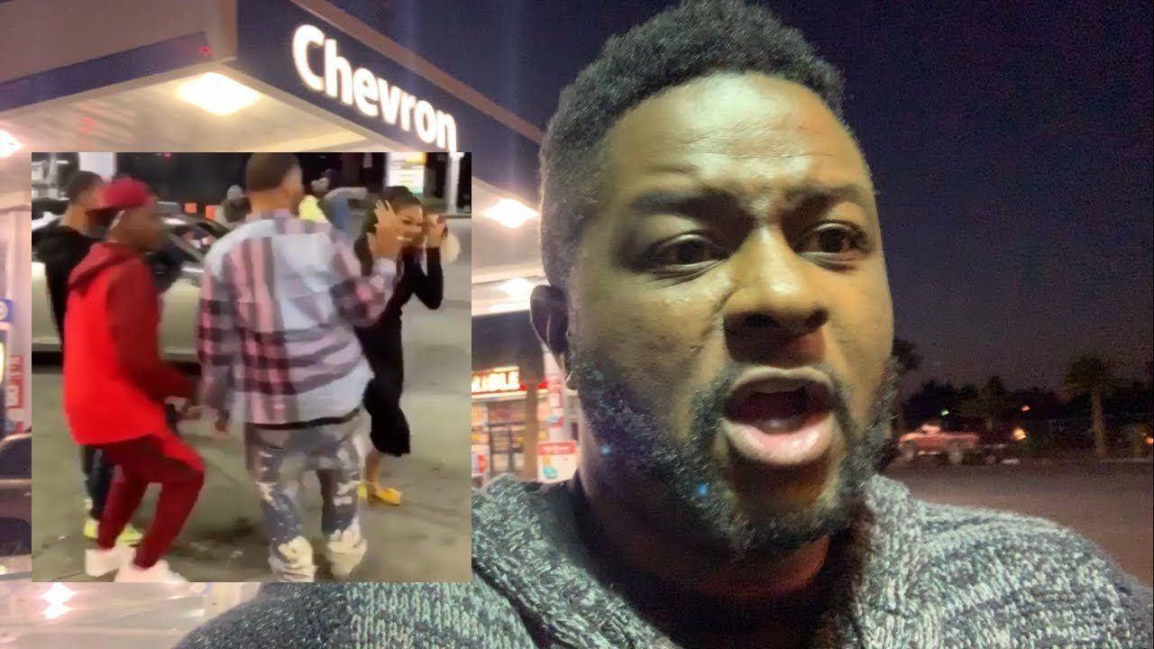 Woman Harassed by Gang of Thugs at Gas Station