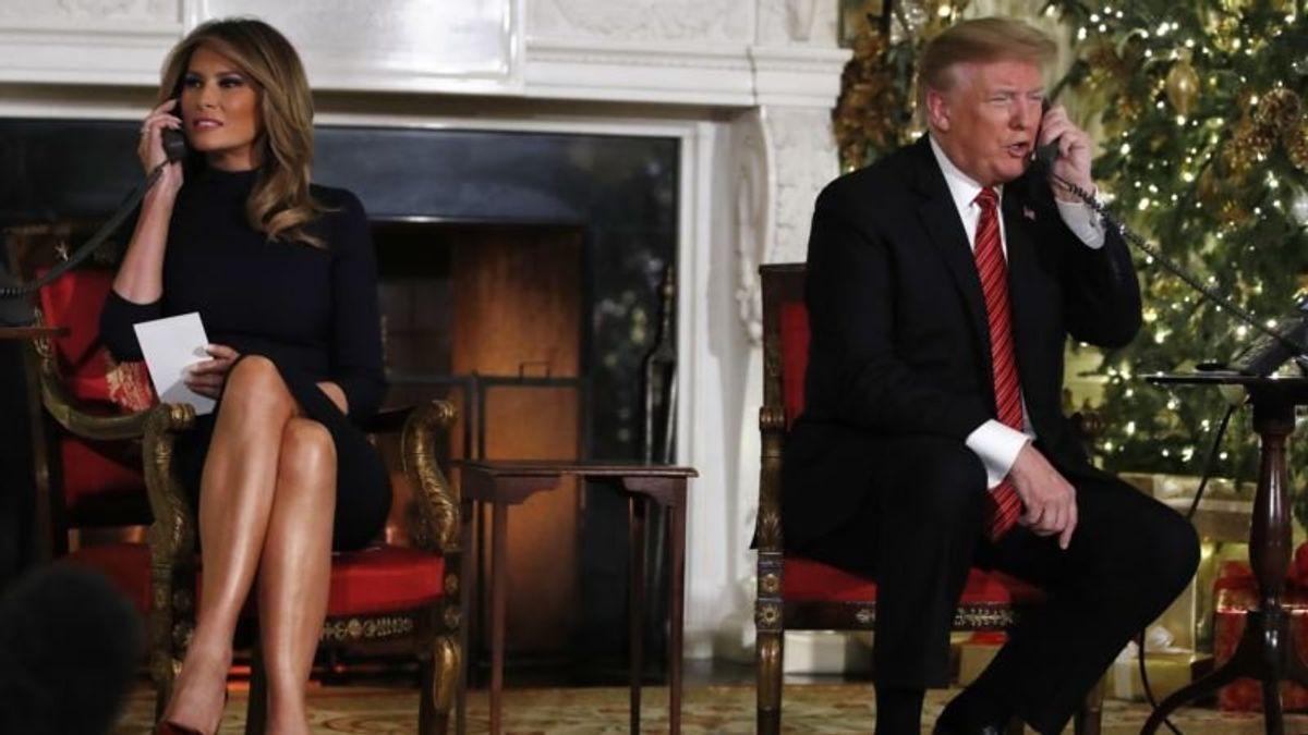 Trump, First Lady Talk With Kids Tracking Santa