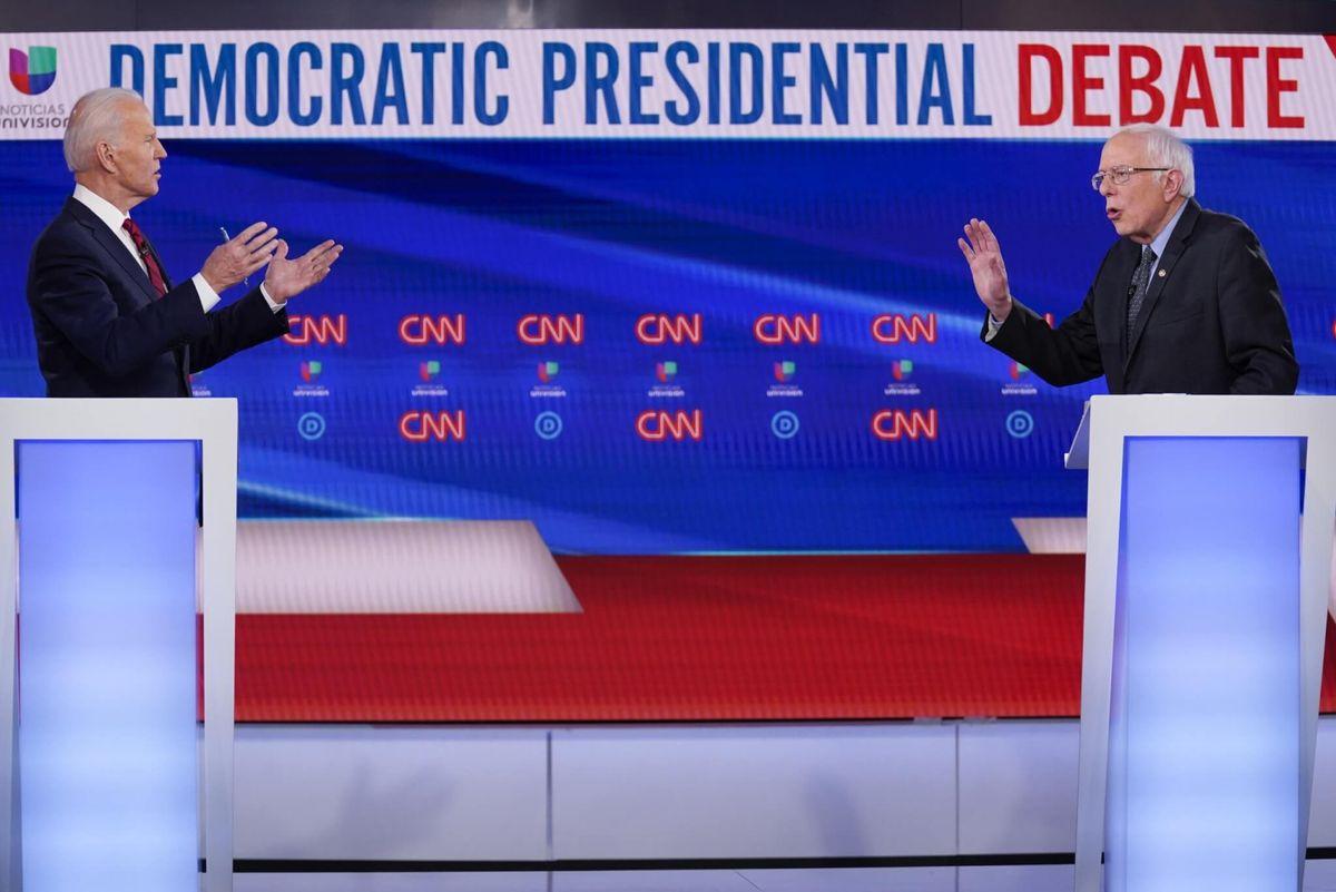 In Feisty Debate, Biden, Sanders Clash on Best Way to Defeat Trump