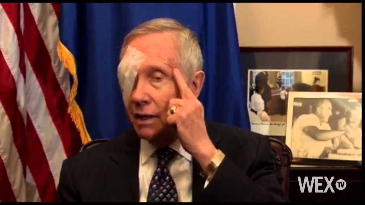 Sen. Harry Reid explains injury to eye