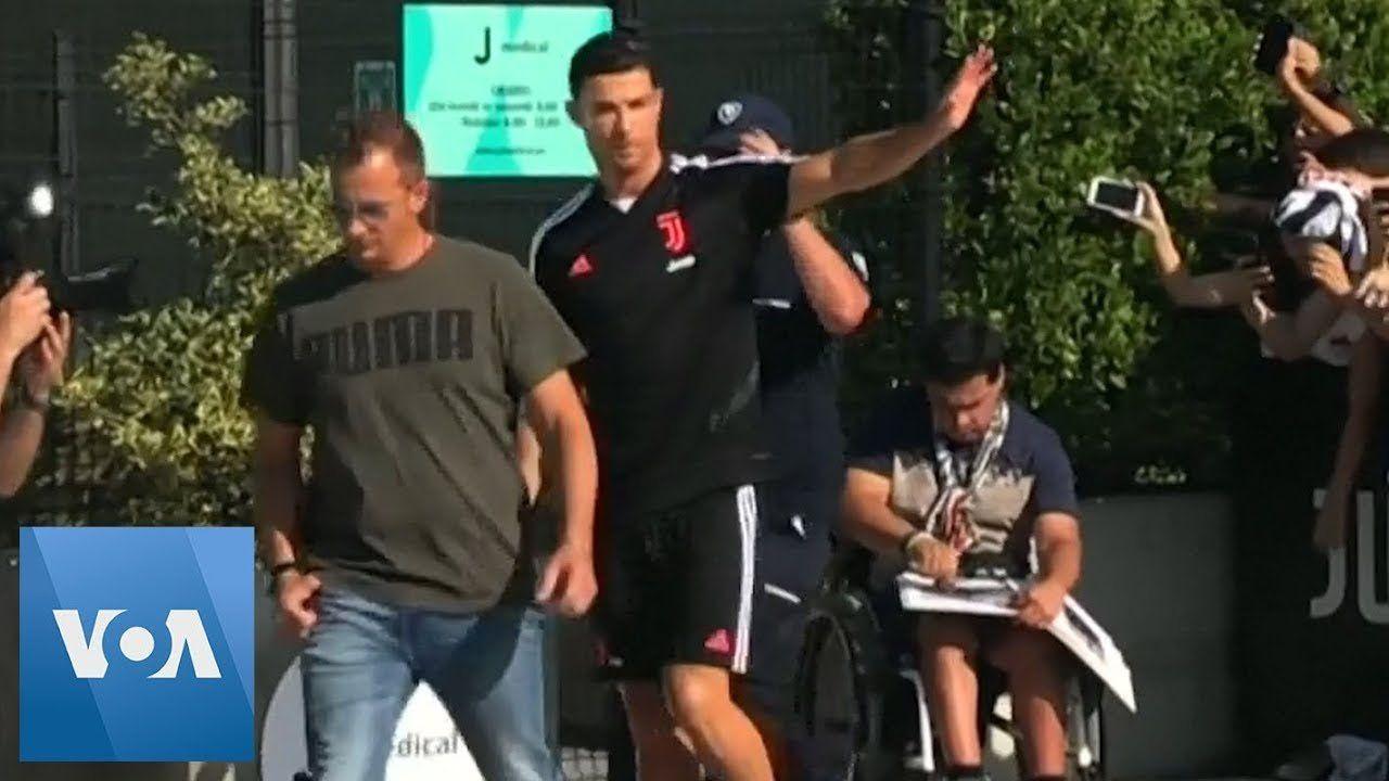 Cristiano Ronaldo Arrives for Juventus Pre-Season Medical Checkup