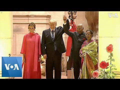 US President Trump, Melania Conclude India Visit With Banquet