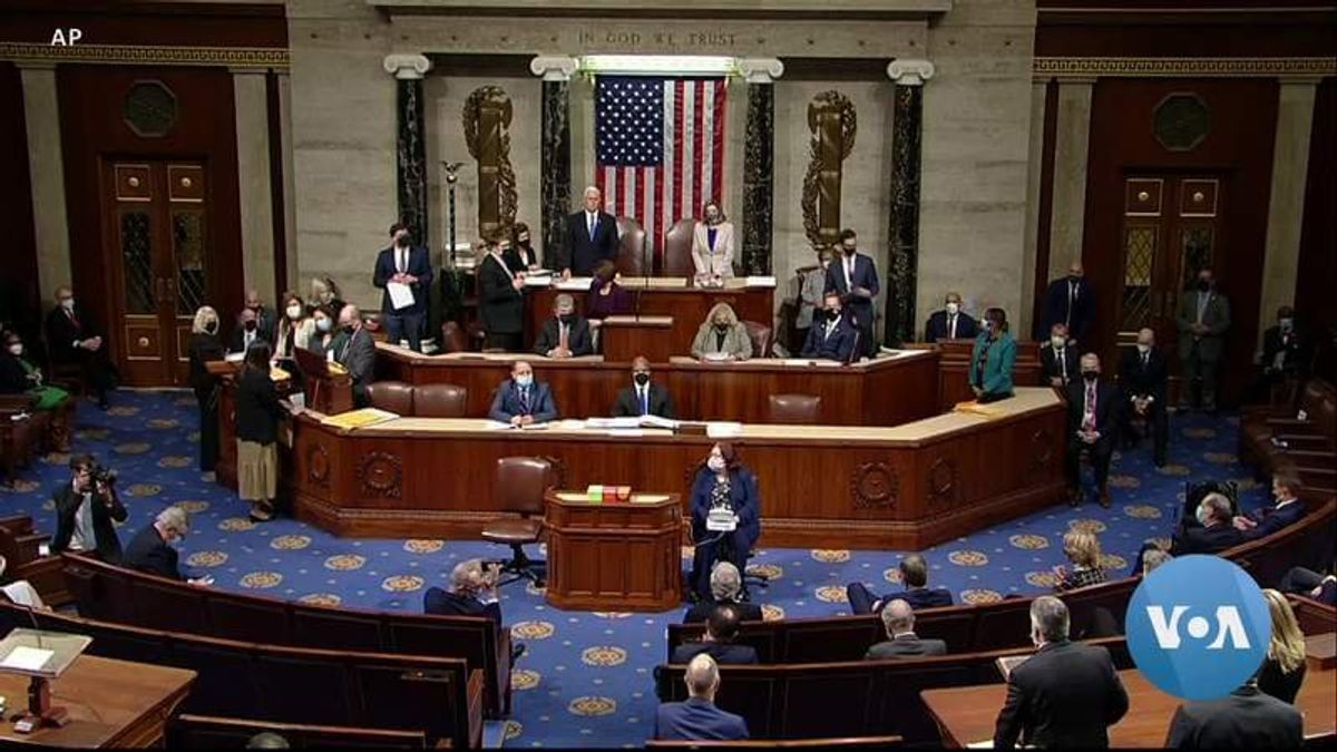After Mob Storms Capitol, Congress Continues Certification of Biden's Victory