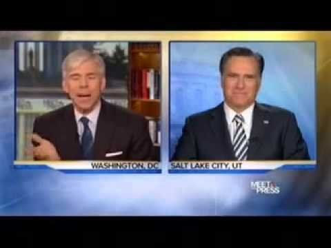 Mitt Romney on Meet the Press with David Gregory
