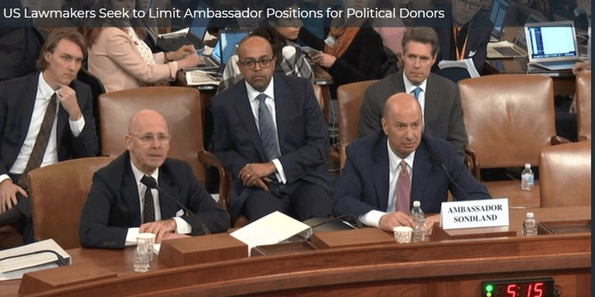 US Lawmakers Seek to Limit Ambassador Positions for Political Donors