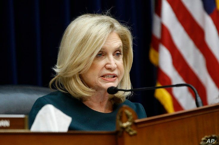 Rep. Carolyn Maloney, D-N.Y., chair of the House Oversight Committee, speaks during a hearing on preparedness for and response…