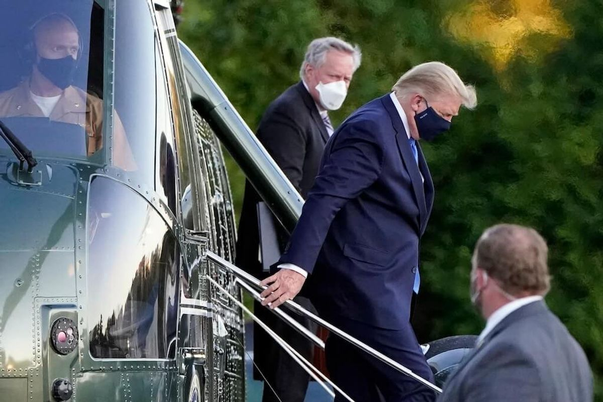 Trump, Diagnosed With COVID-19,to Work From Hospital