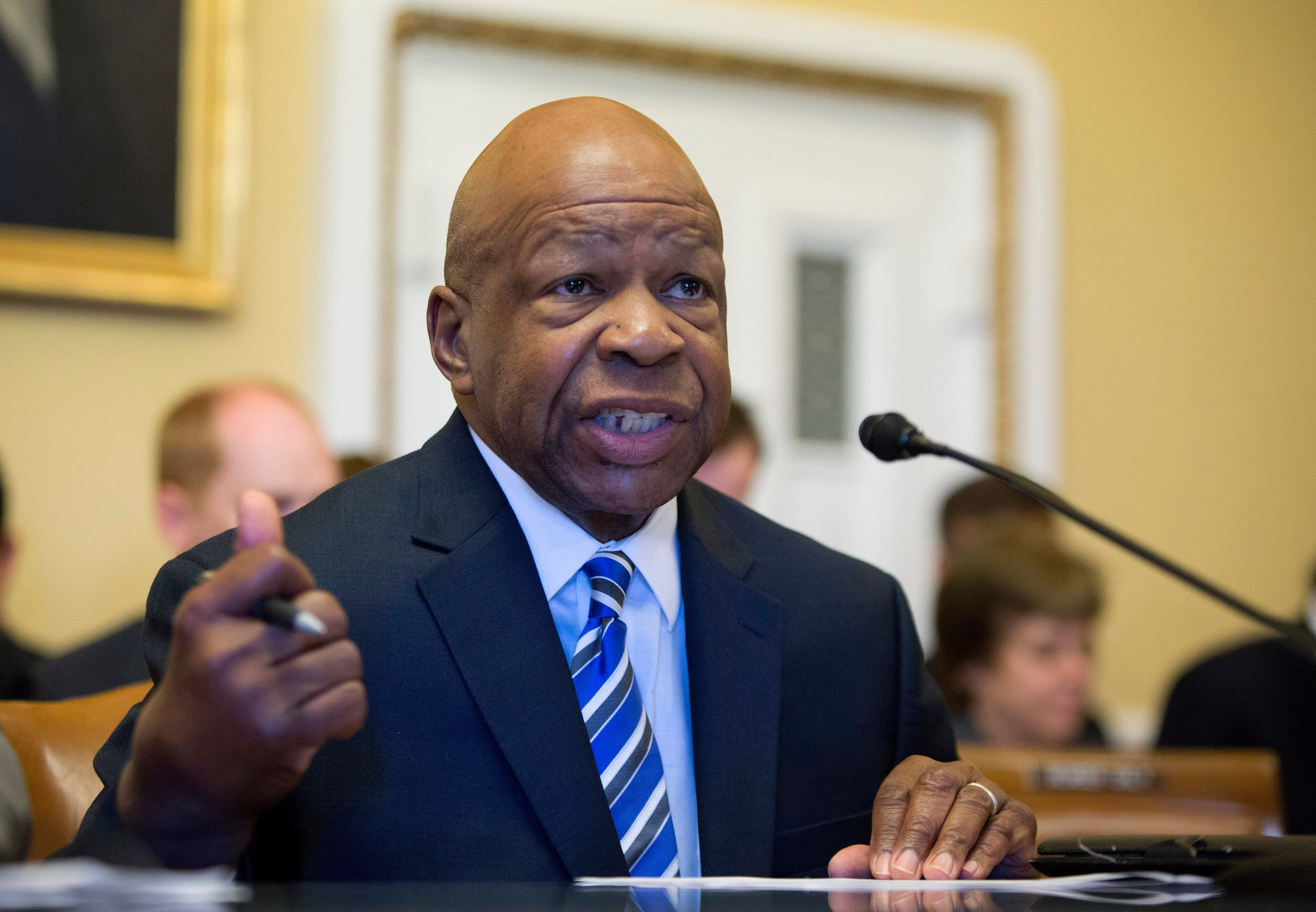 Congressman Elijah Cummings is seen on Capitol Hill in Washington in this June 27, 2012, file photo.