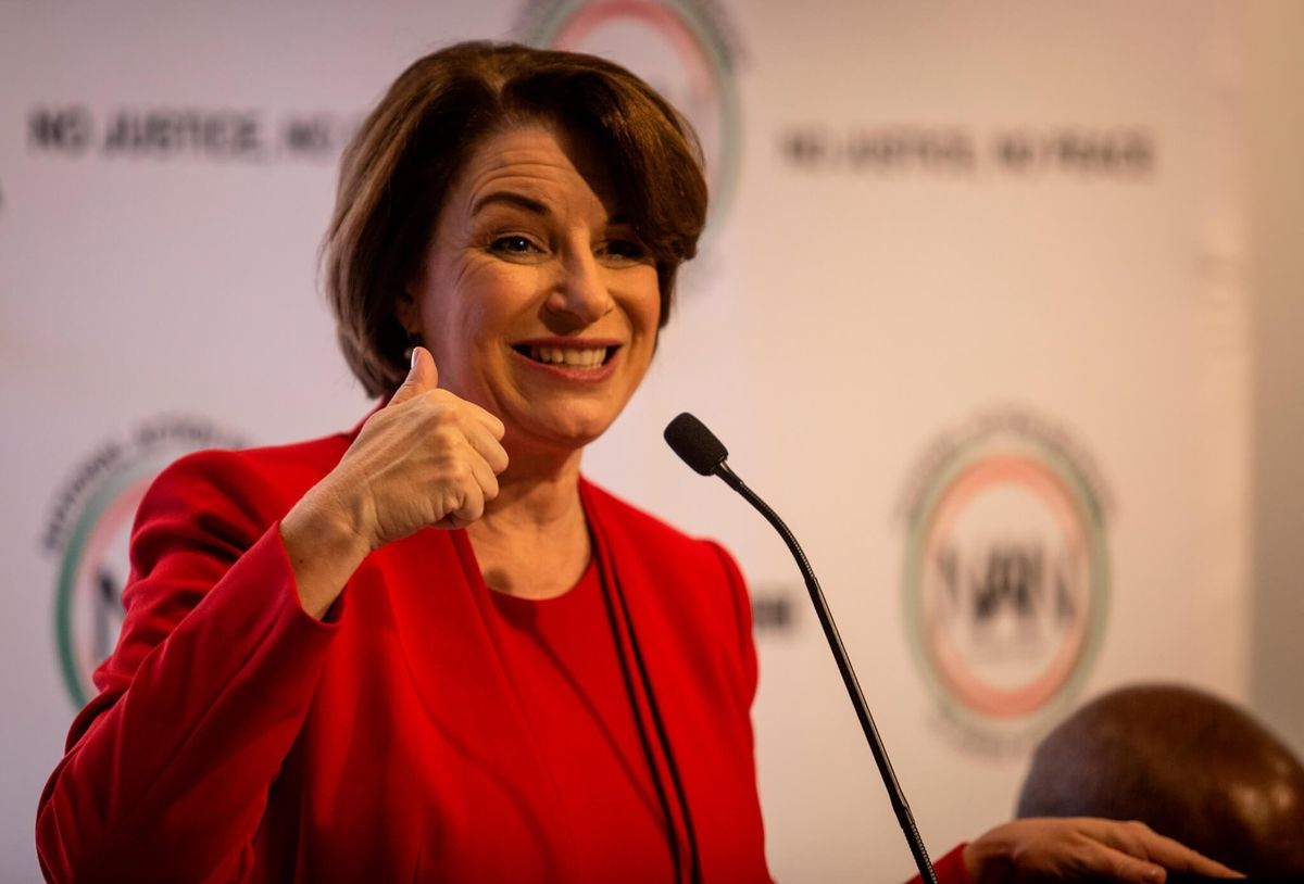 As More Men Run, Klobuchar Makes Case For 'Woman Candidate'