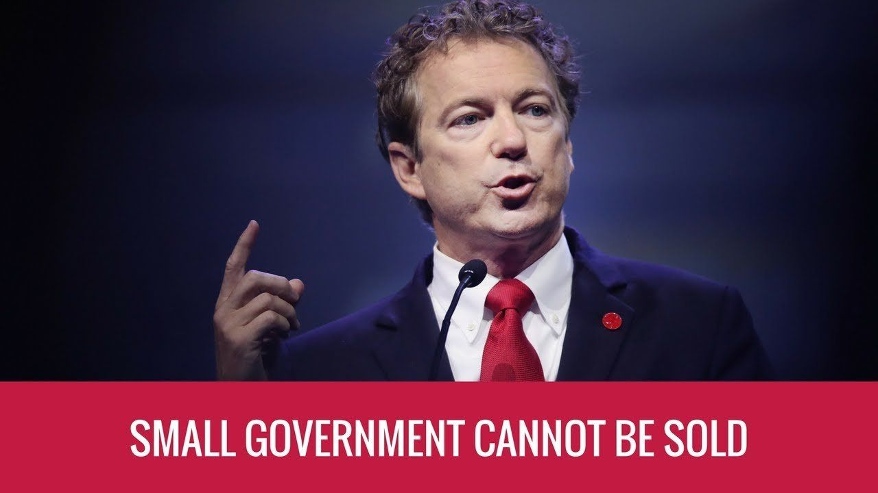 Small Government Means Influence Can't Be Sold