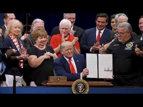 President Donald Trump Signs an Executive Order Protecting Medicare