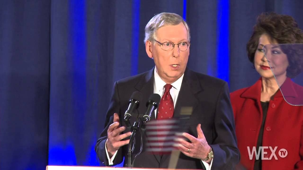 McConnell addresses supporters following victory