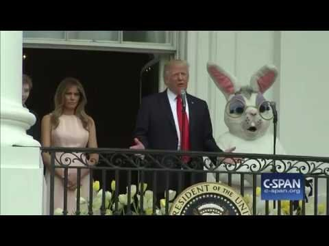 President Trump and First Lady Melania Trump remarks at White House Easter Egg Roll (C-SPAN)