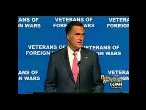 At VFW, Romney remembers military victims of Colorado shooting