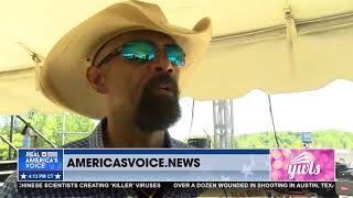 Sheriff David Clarke talks with Ben Bergquam the MAGAFRANK Rally