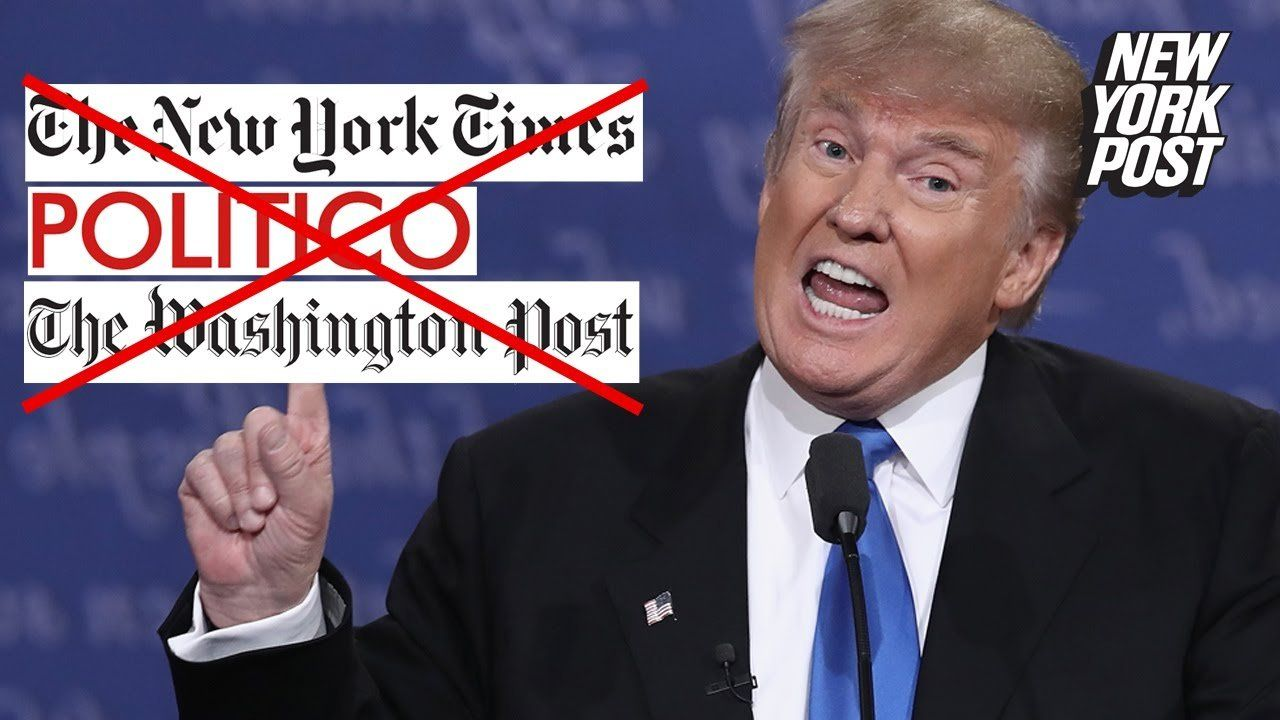 When the media hits Trump, he strikes back