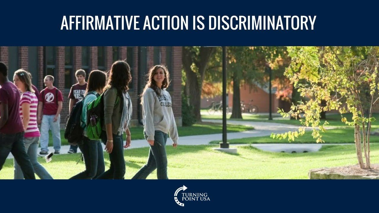 Charlie Kirk: Affirmative Action Is Discriminatory
