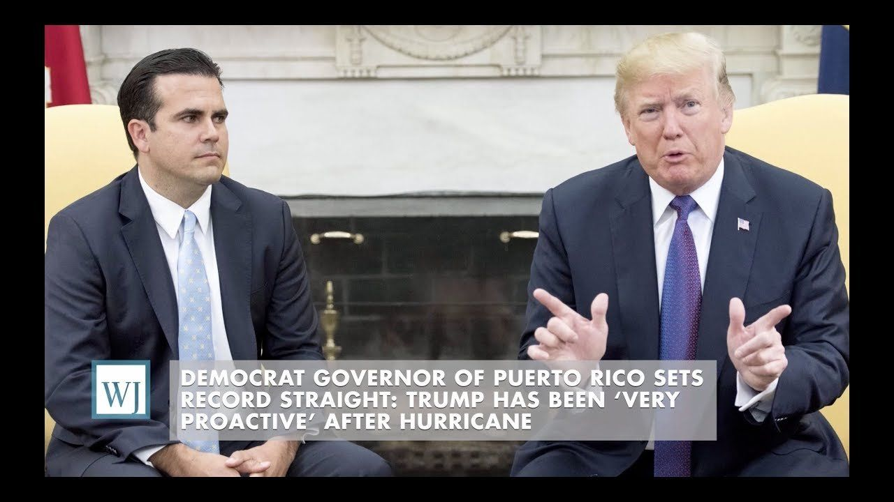 Puerto Rico Governor Sets Record Straight: Trump 'Very Proactive' After Hurricane
