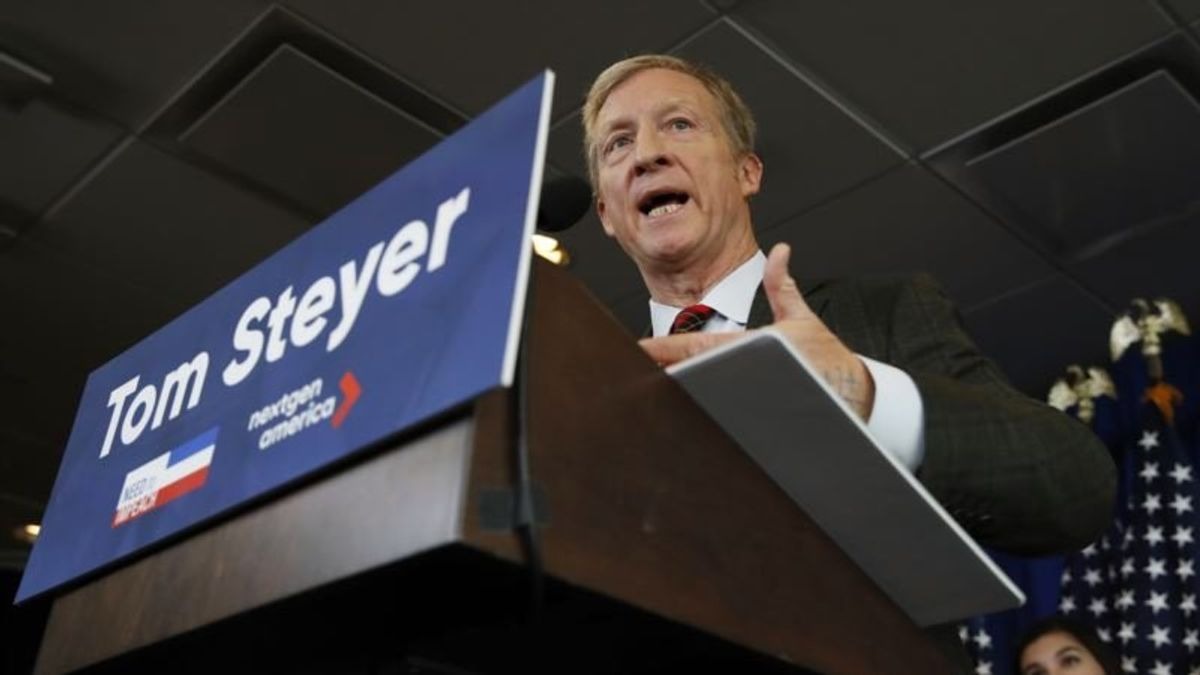 Billionaire Steyer to Make Announcement on 2020 US Presidential Race