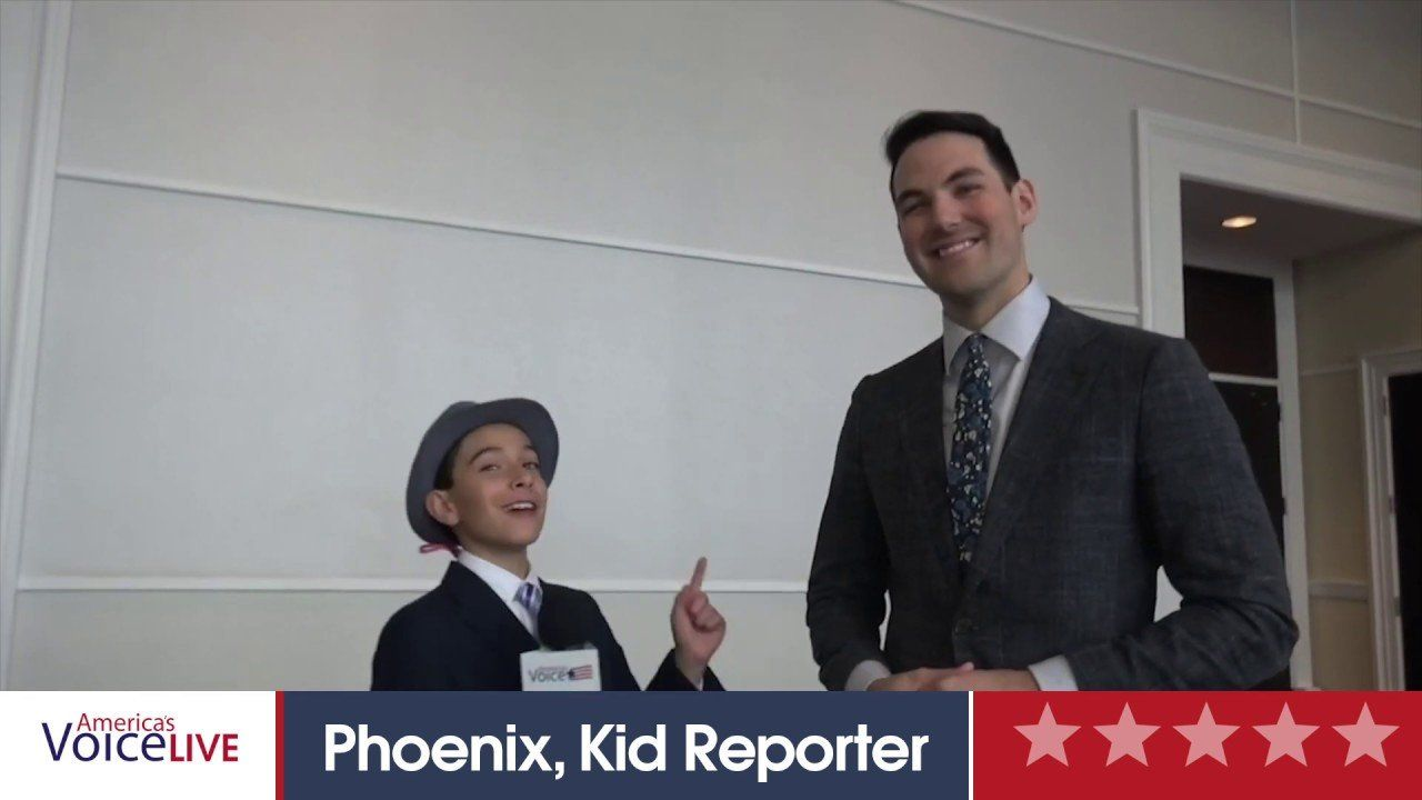 Cabot Phillips with Campus Reform and Phoenix Kid Reporter