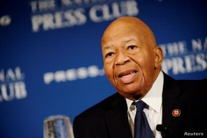 FILE - House Oversight and Government Reform Chairman Elijah Cummings (D-MD) addresses a National Press Club luncheon in Washington, Aug. 7, 2019.