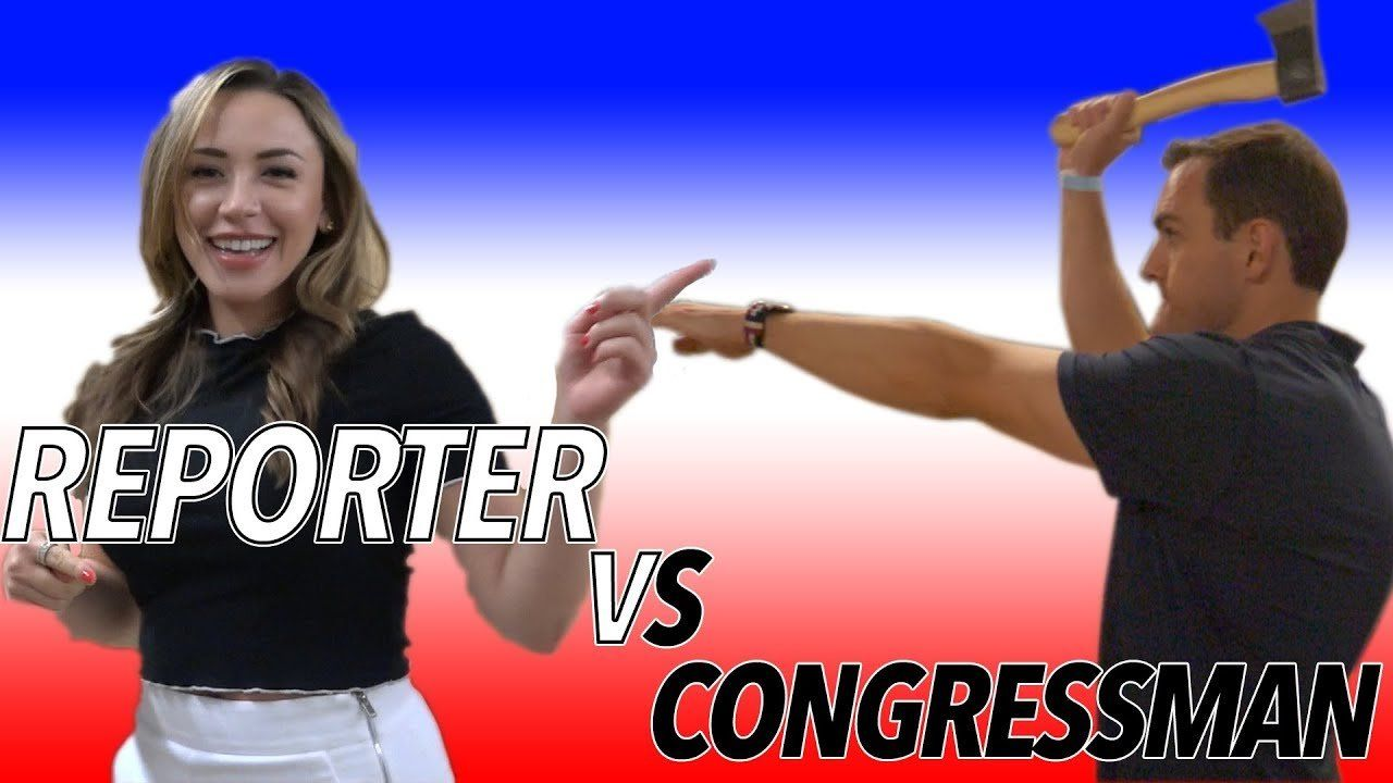 Reporter VS Congressman Mike Gallagher – Axe Throwing Competition