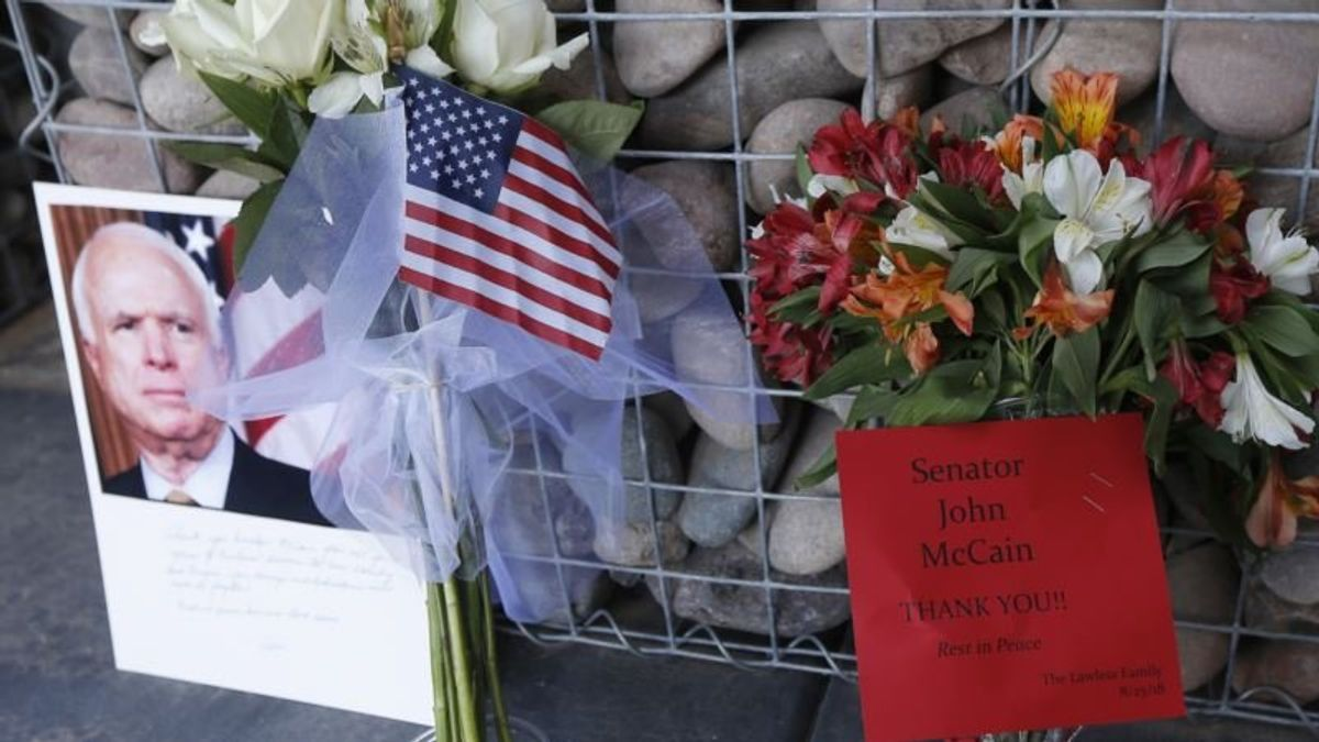 Tributes Pour in for Senator John McCain, But Not From Trump