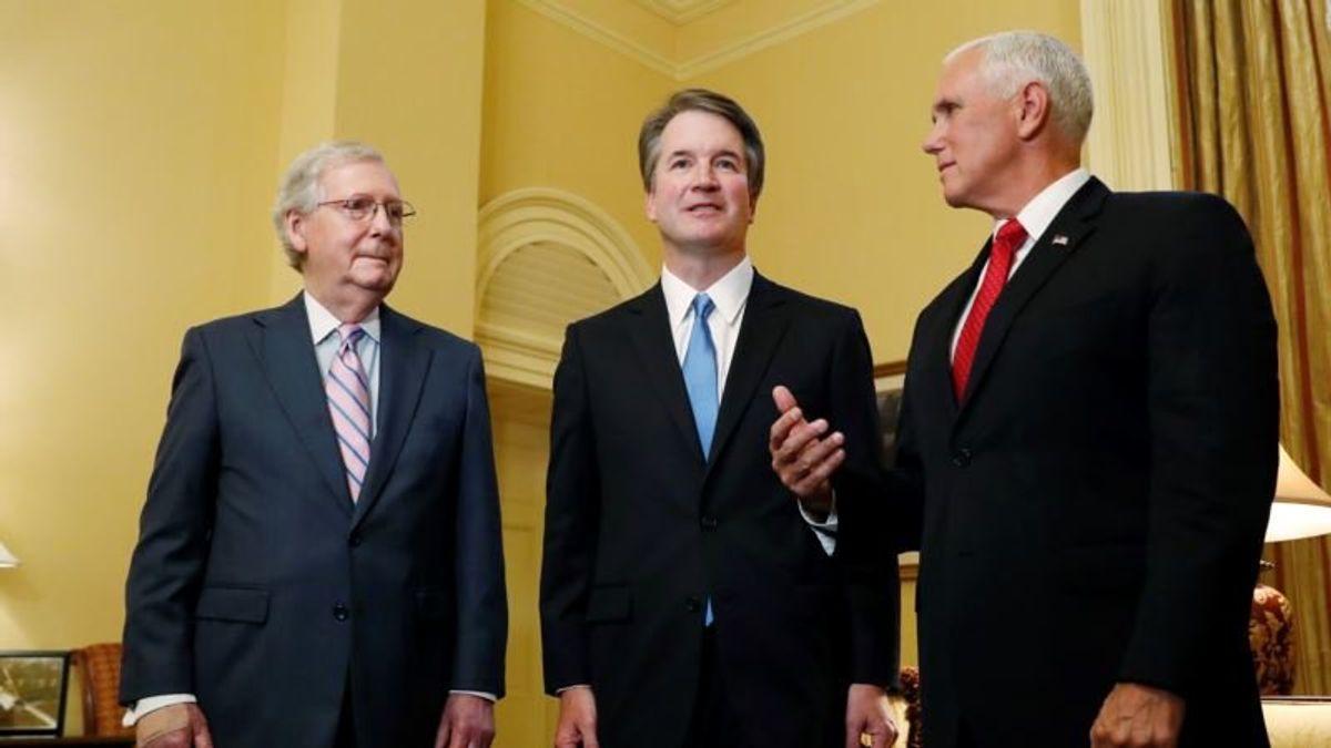 Trump's Supreme Court Pick Woos Senators Amid Partisan Storm