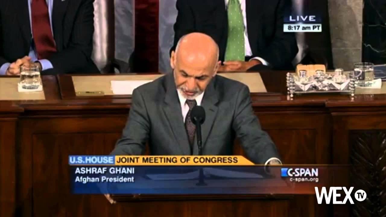 Afghan President Ashraf Ghani addresses Congress