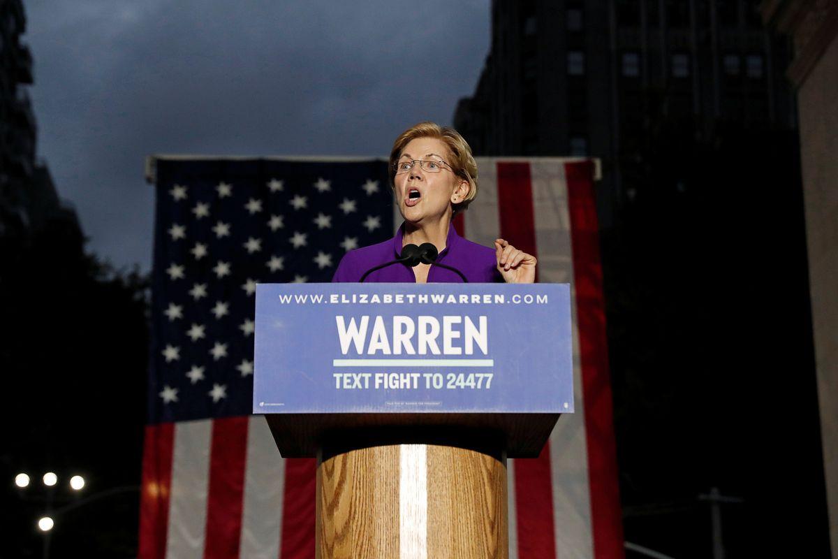 Warren Surges in Democratic Presidential Race