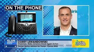 Corey Lewandowski on Trump website: new social media tool coming soon.