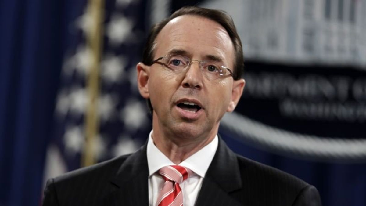 Rosenstein Defends Charging Foreign Agents US Can't Arrest
