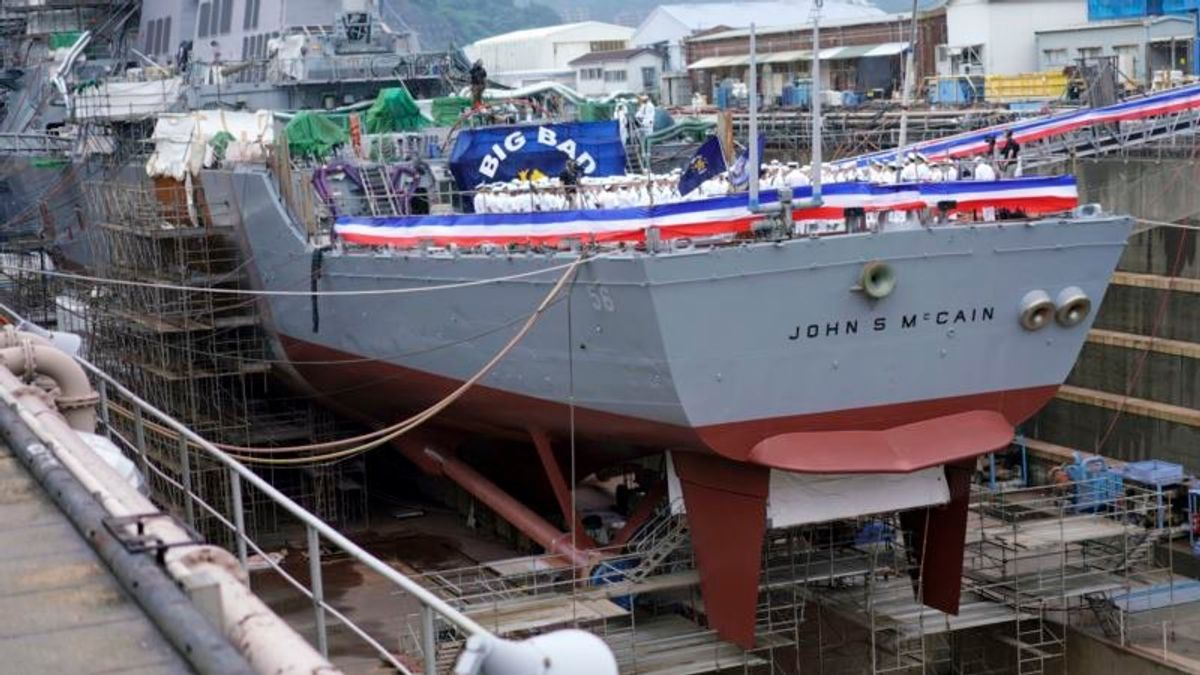 Shanahan Unaware of Effort to Move USS John McCain Out of Sight