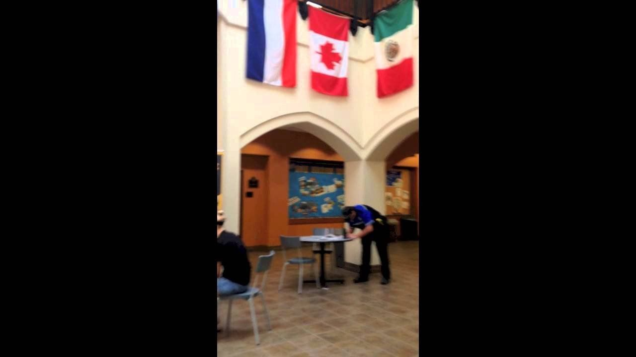 Confrontation with police officers at Texas Lutheran University