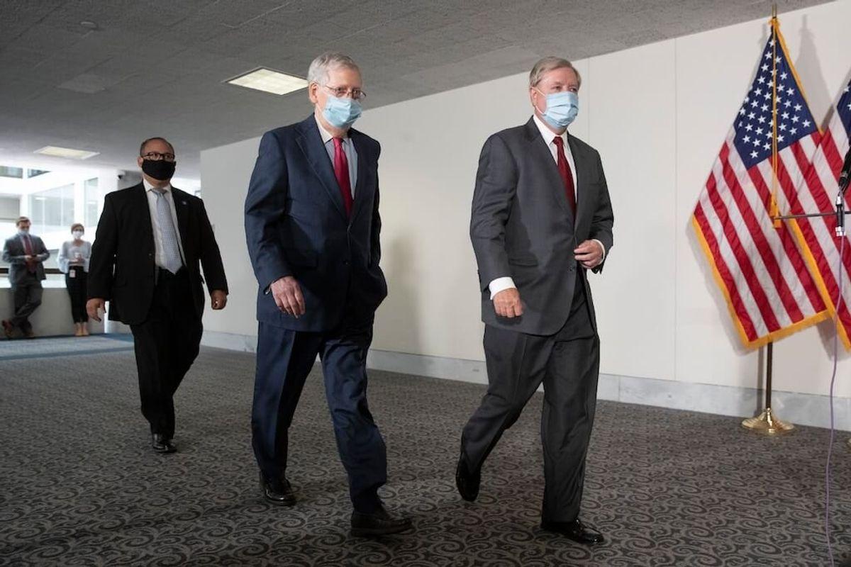GOP Seeks to Pause Senate Work, but Not Barrett Hearings