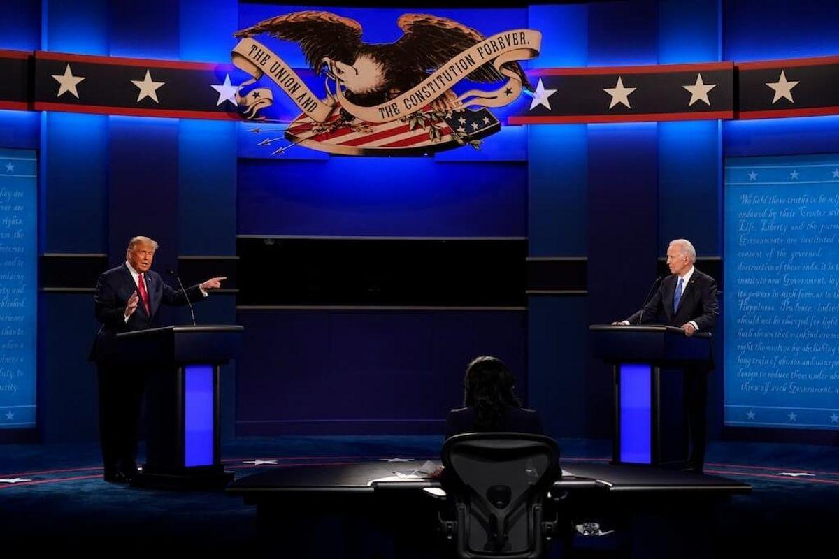 Trump, Biden Spar as Last Debate Opens
