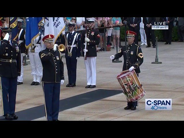VP Pence at Tomb of the Unknown Soldier on Memorial Day –  (C-SPAN)