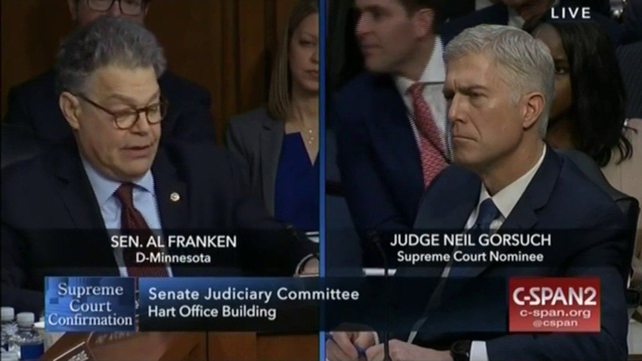 Franken Tries To Sully Scalia's Work During Neil Gorsuch Hearings