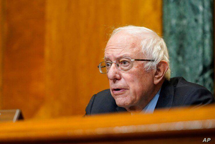 Senate Budget Committee Chairman Sen. Bernie Sanders, I-Vt., speaks during a hearing on Capitol Hill in Washington, Thursday,…